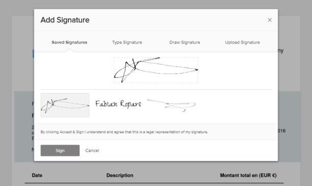 Sa signature en ligne vraiment pas mal