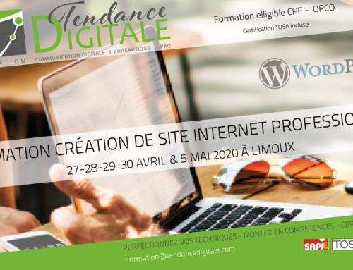 Formation création de site internet avec WordPress 5 jours 27-28-29-30 AVRIL & 5 MAI 2020 à Limoux