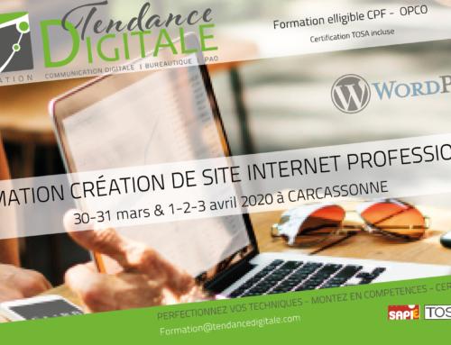Formation création de site internet avec WordPress 5 jours – du 30 mars au 3 avril 2020 à Carcassonne