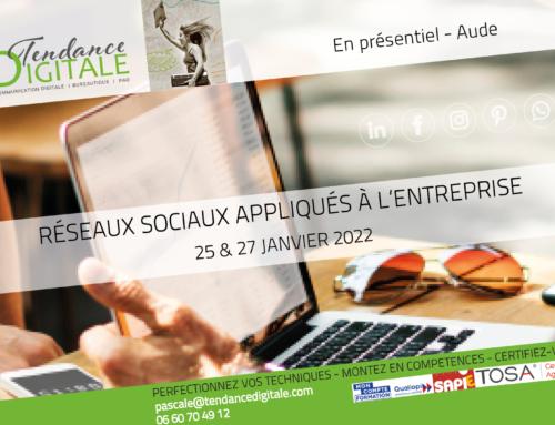 Formation:  Réseaux sociaux entreprise 25 & 27.01.22